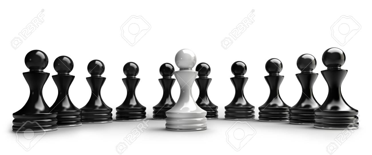 Chess Background Central Figure   White Pawn Isolated On White 1300x541