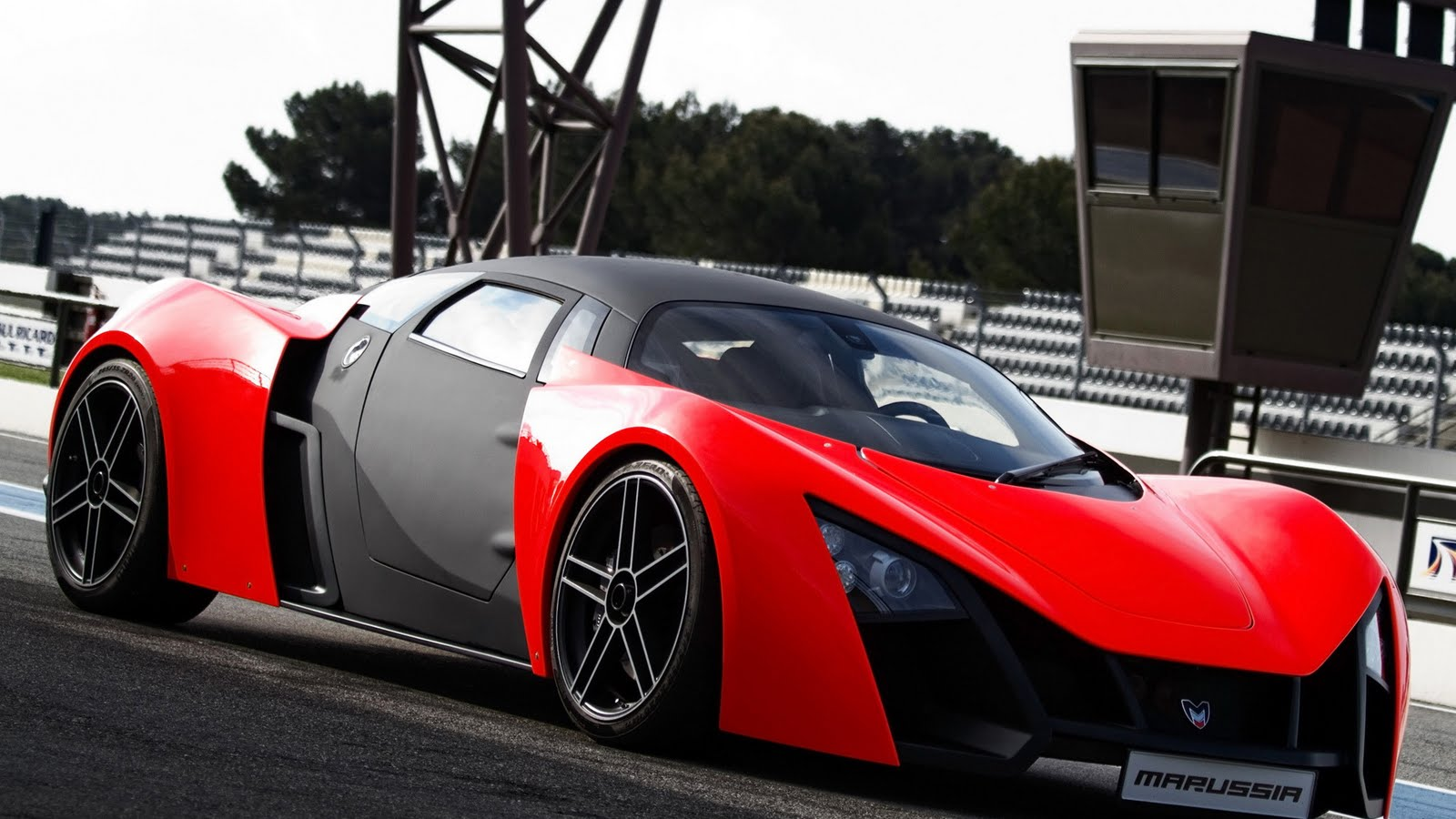 Marussia red luxury supercar HD Wallpaper The Wallpaper Database 1600x900