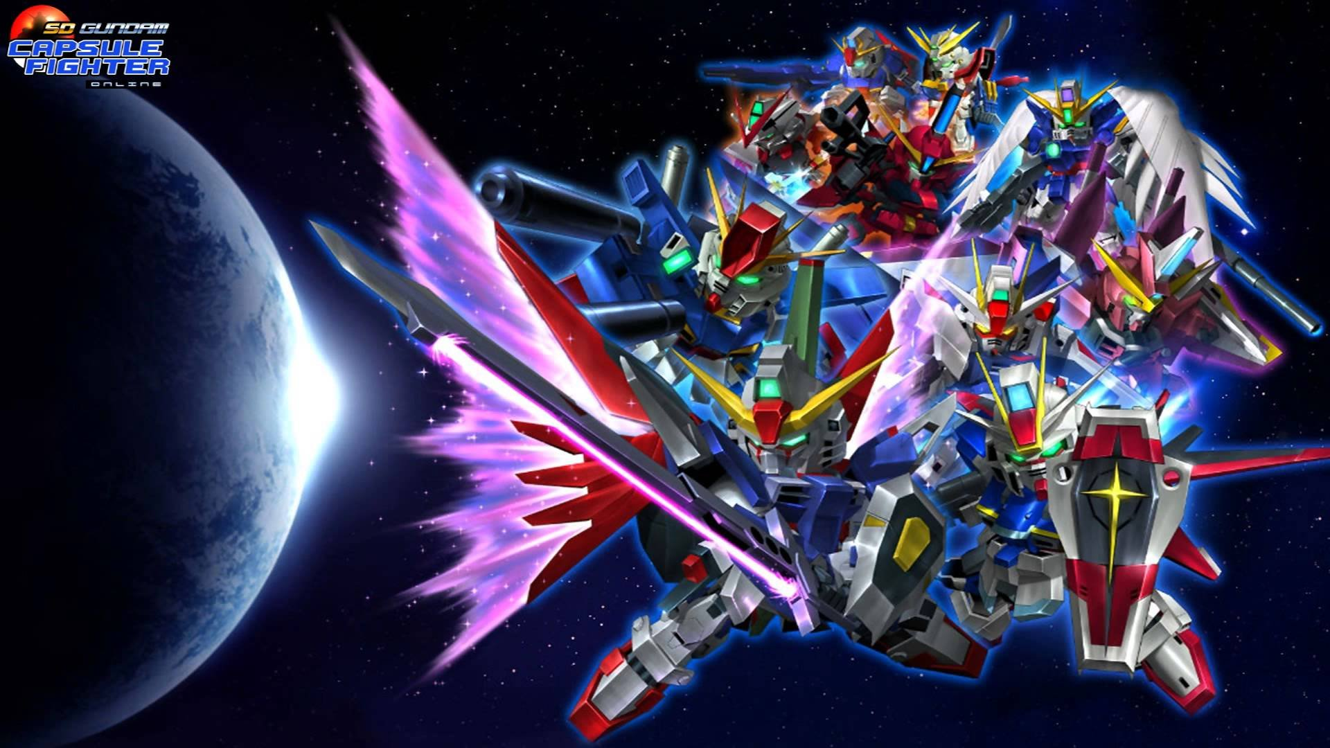 SD Gundam Capsule Fighter Online sci fi shooter tps action 1920x1080