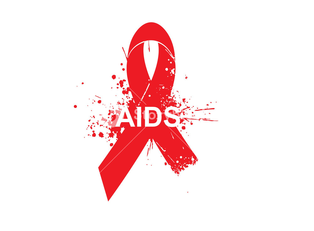 Aids Awareness Background With Grunge Elements And Red Ribbon 1000x736