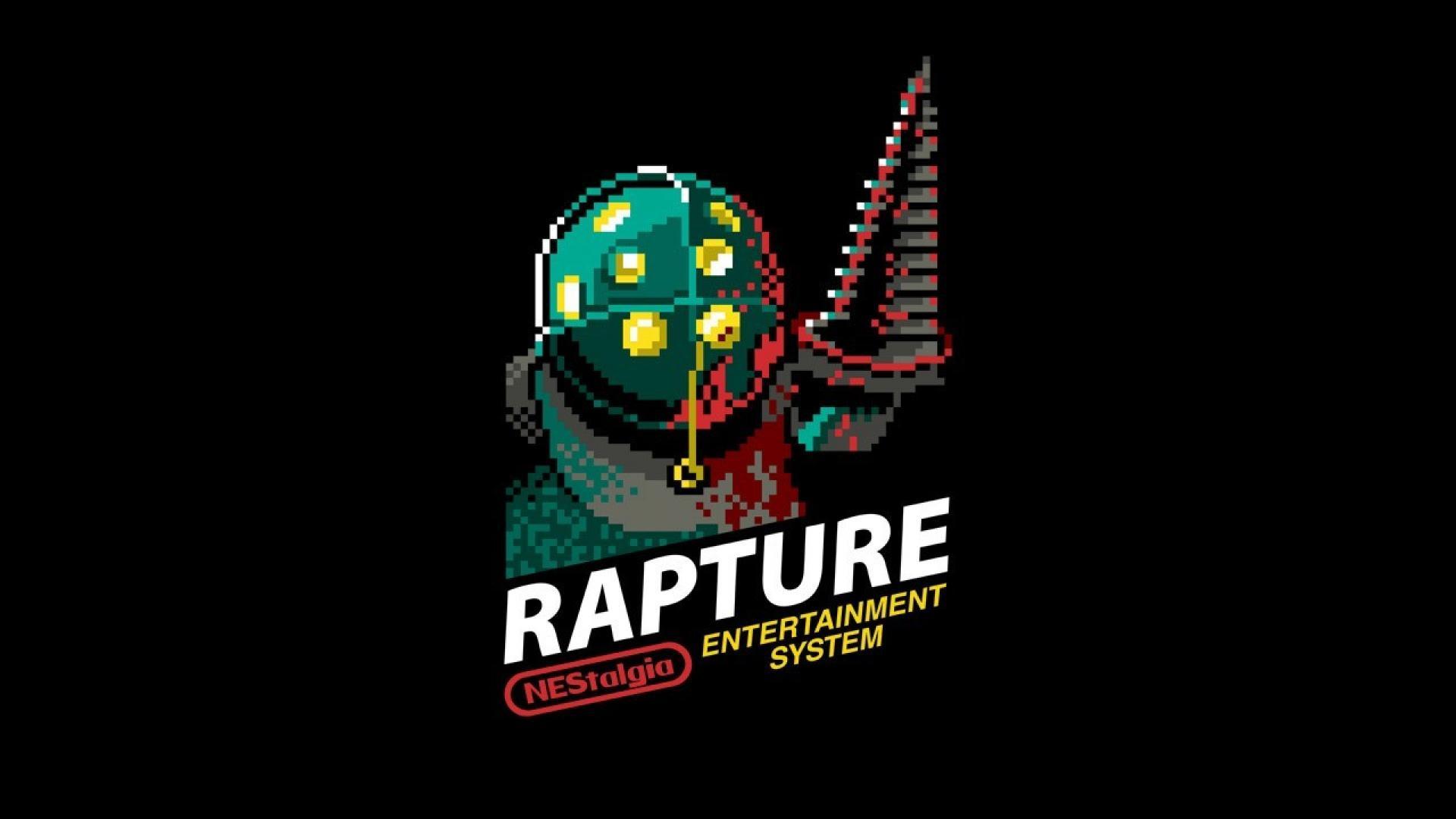 Bioshock rapture retro games nes 8 bit game wallpaper 39650 1920x1080