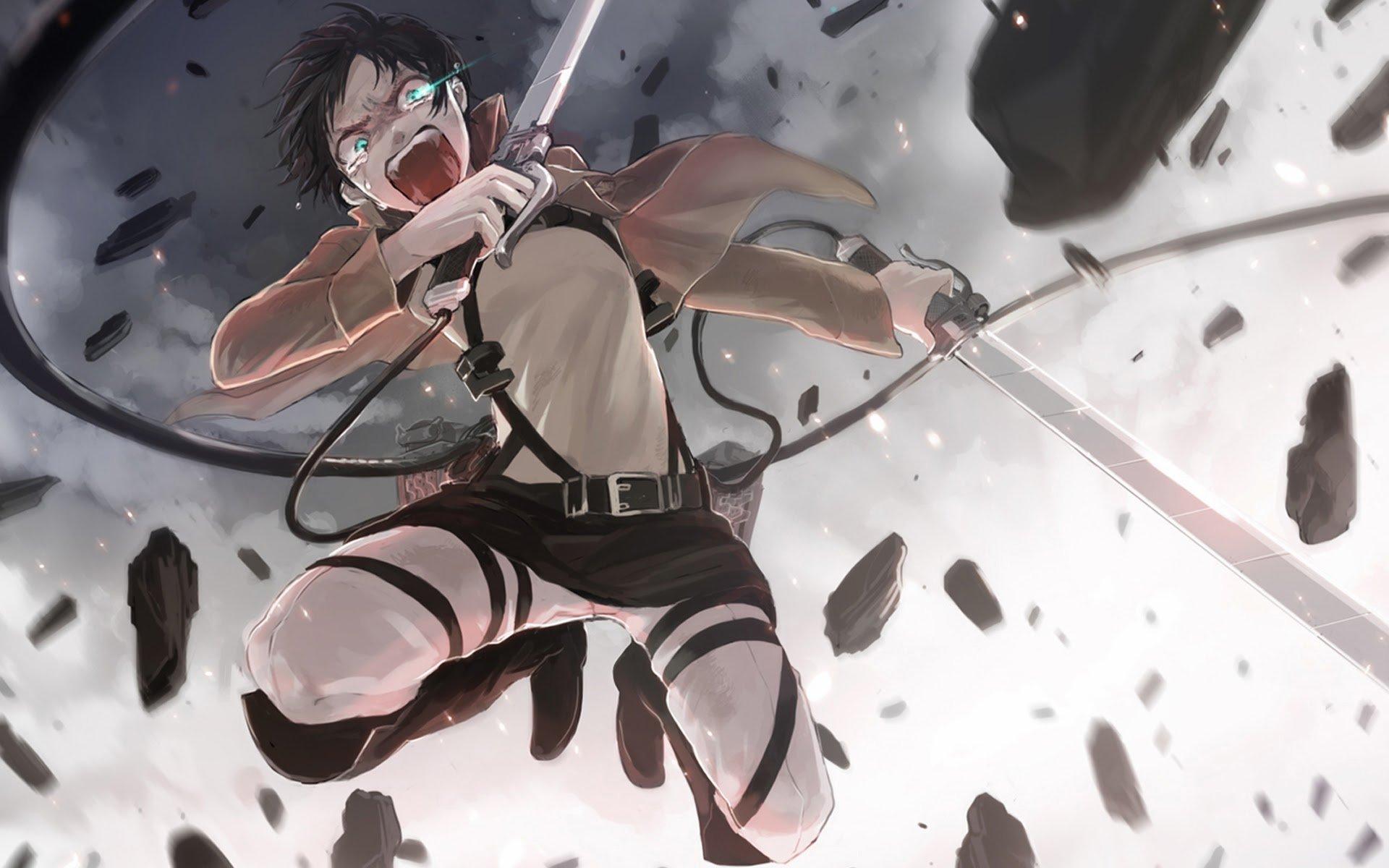 eren jaeger anime attack on titan shingeki no kyojin 1920x1200 9f 1920x1200