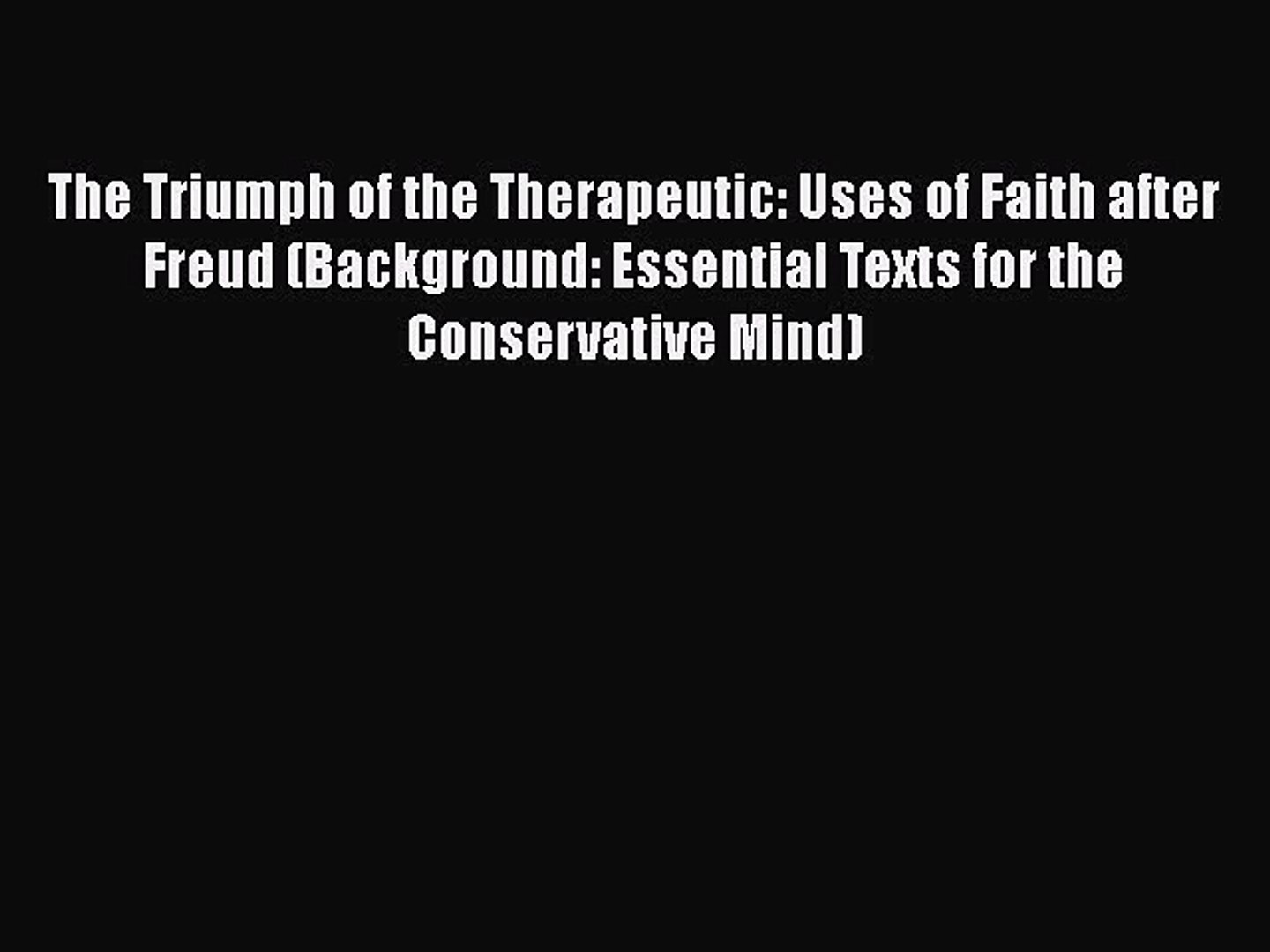 Read Books The Triumph of the Therapeutic Uses of Faith after 1440x1080