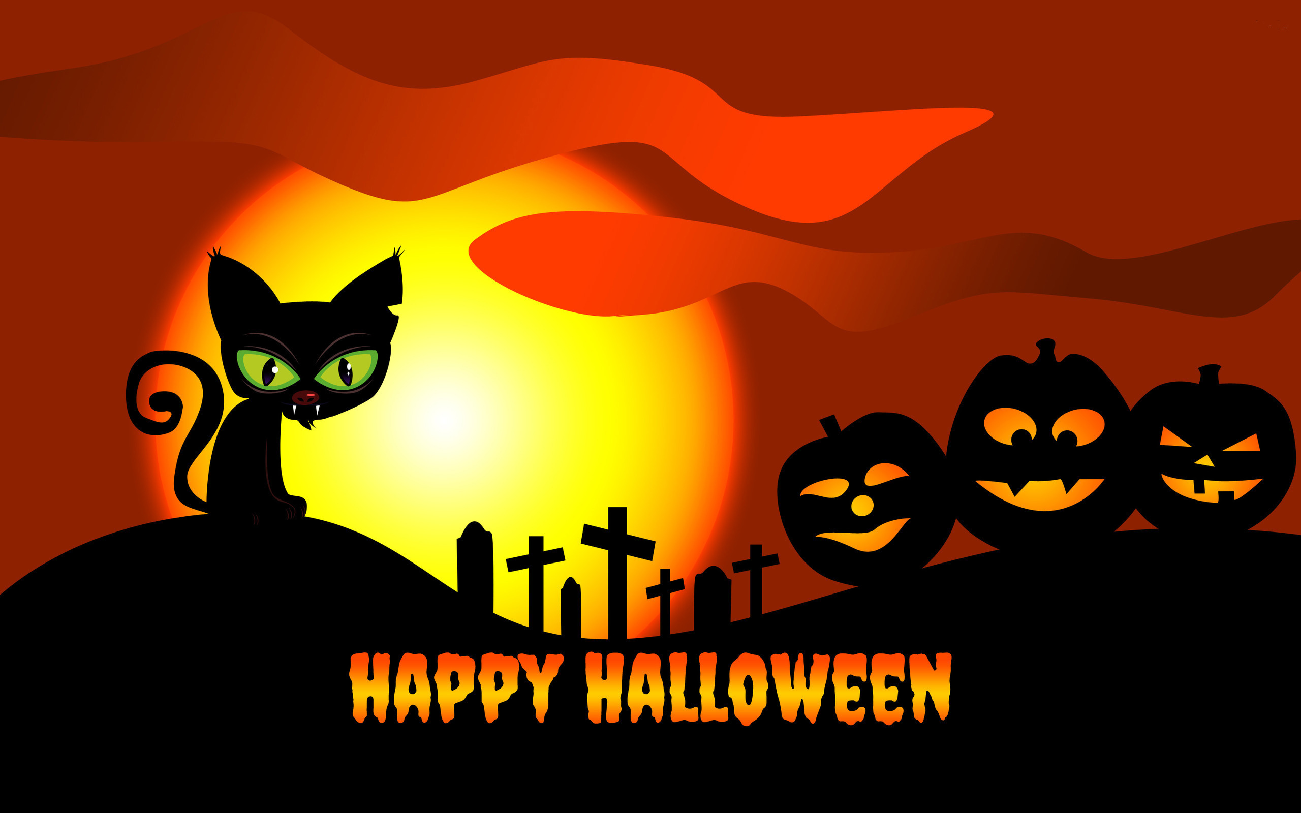 Cute Happy Halloween Wallpapers Festival Collections 2560x1600