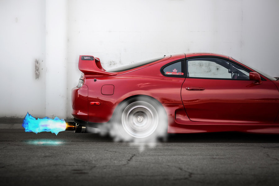 Toyota Supra TRD Burnout by turkiye2009 900x600