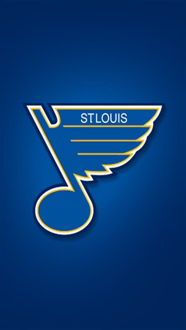 St Louis Blues LOGO iPhone Wallpapers iPhone 5s4s3G Wallpapers 640x1136