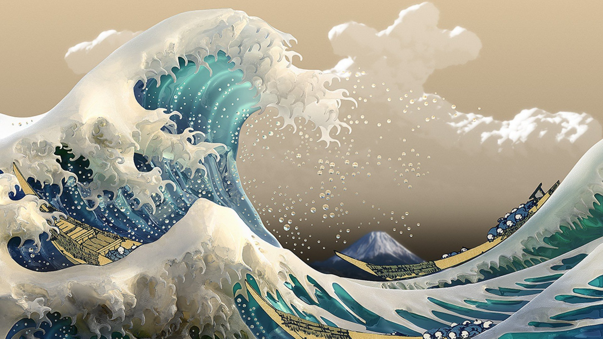 Free Download Screenheaven The Great Wave Off Kanagawa Ocean Waves