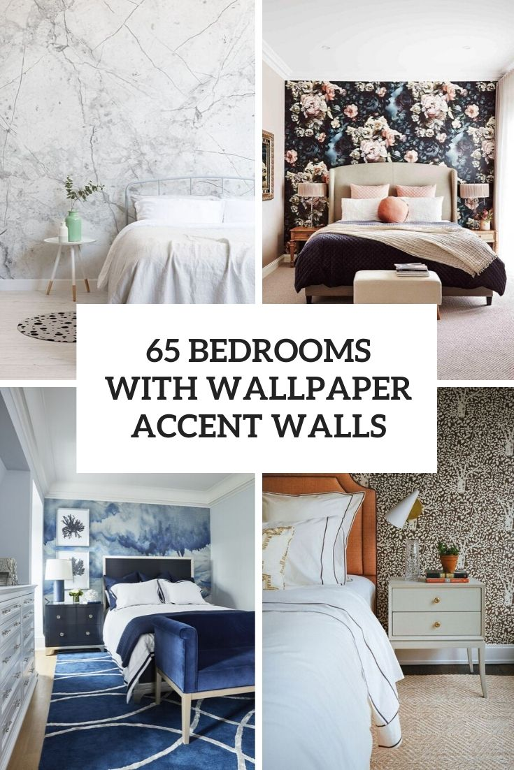 65 Bedrooms With Wallpaper Accent Walls   Shelterness 735x1102
