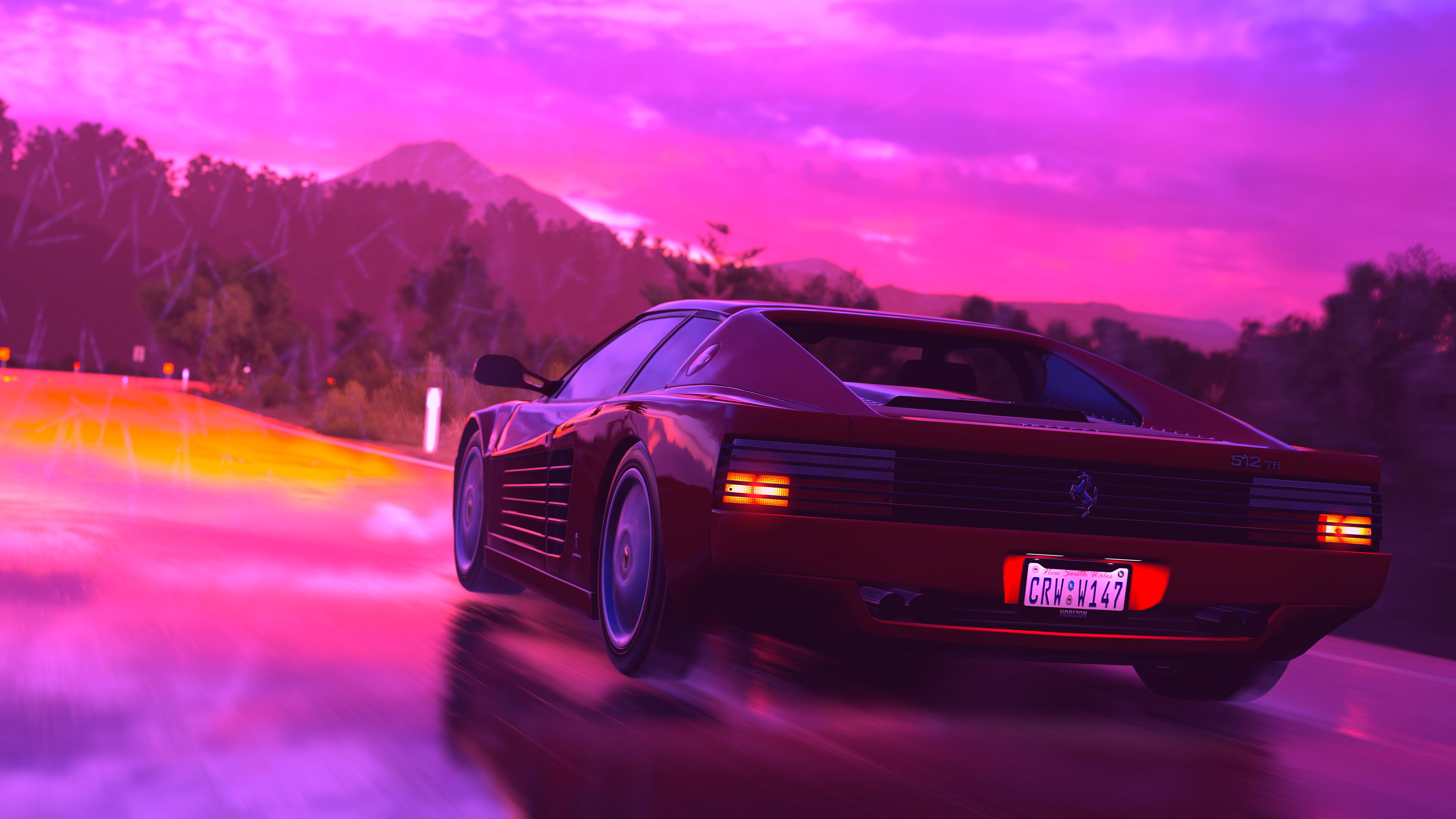 Free Download Wallpaper 4k Ferrari Sports Car Retrowave Art 4k 4k Wallpapers 3840x2160 For Your Desktop Mobile Tablet Explore 36 Retro Wave 4k Pc Wallpapers Retro Wave 4k Pc