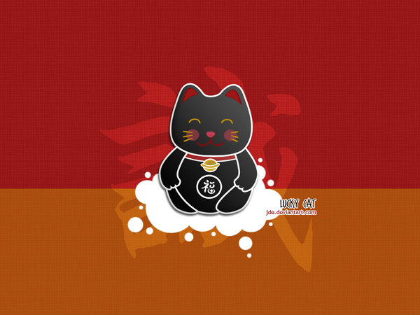 Go Back Gallery For Fortune Cat Wallpaper 600x450