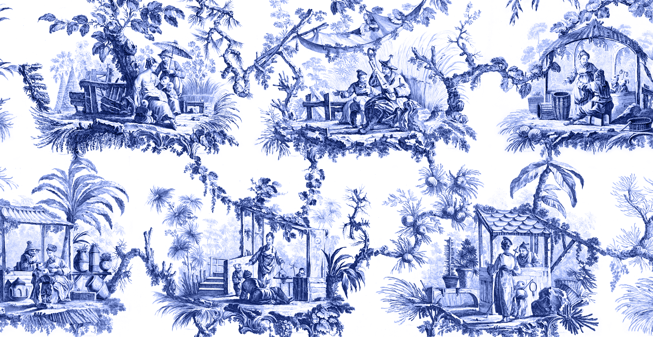 Chinoiserie   JB Pillement   Mural   Majesty Maps and PrintsMajesty 2124x1096