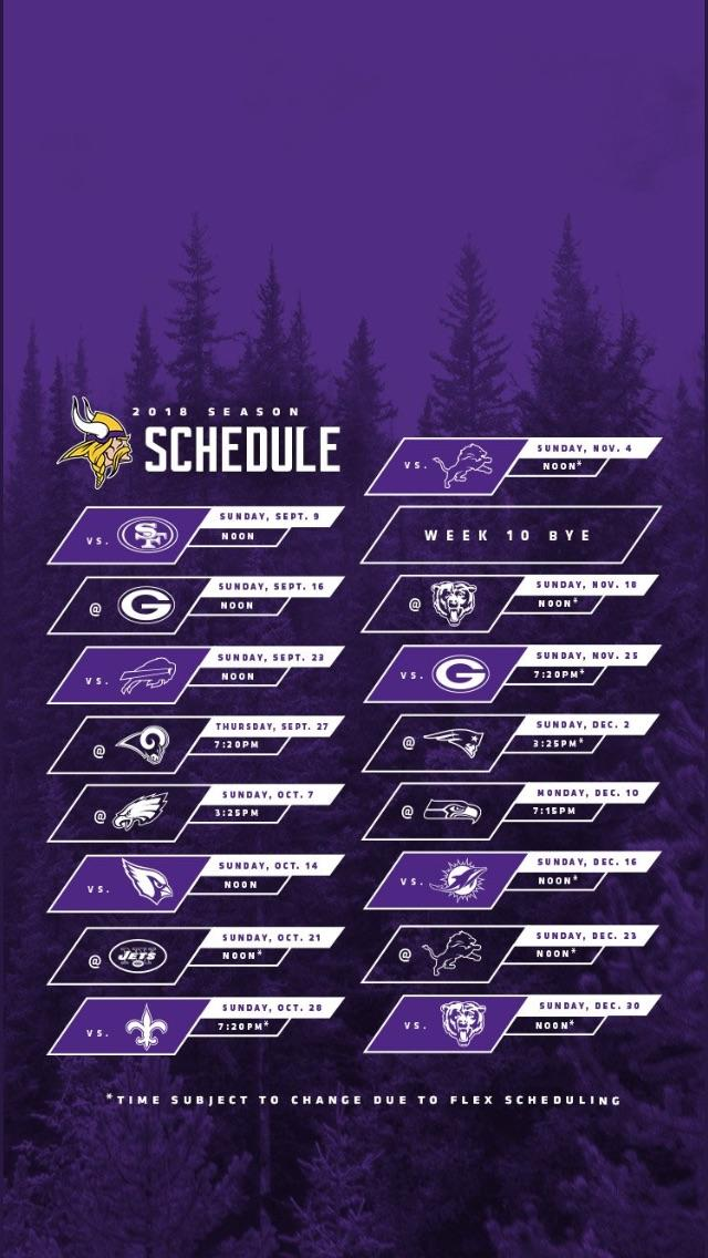 Schedule wallpaper from the Vikings Twitter minnesotavikings 640x1136