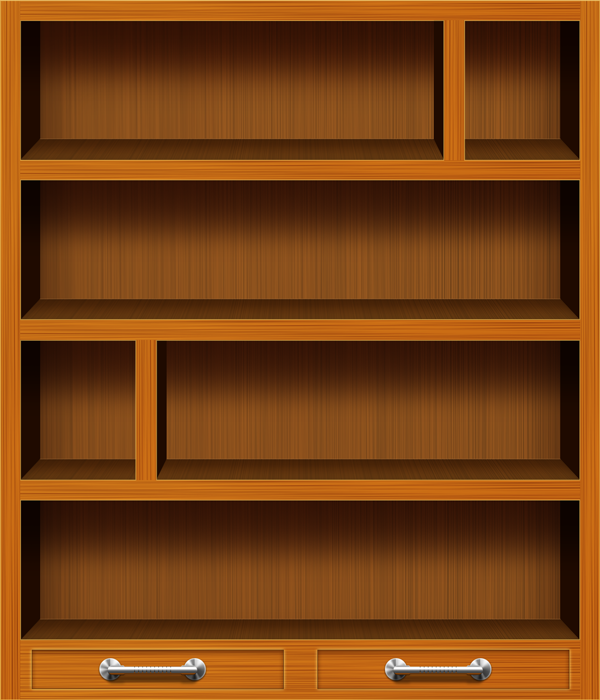 Books on Shelf Png Background Bookcase Book Shelf 600x700