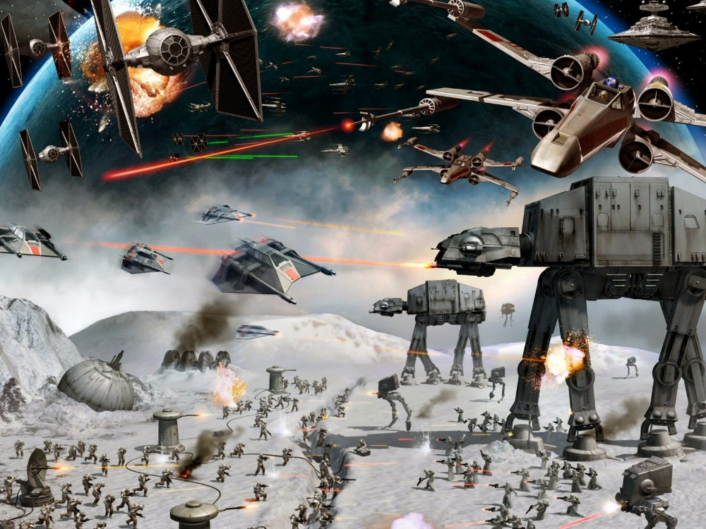 5x7FT Star Wars Force Awakens Carriage Soldiers Fire Custom Photo 1000x750
