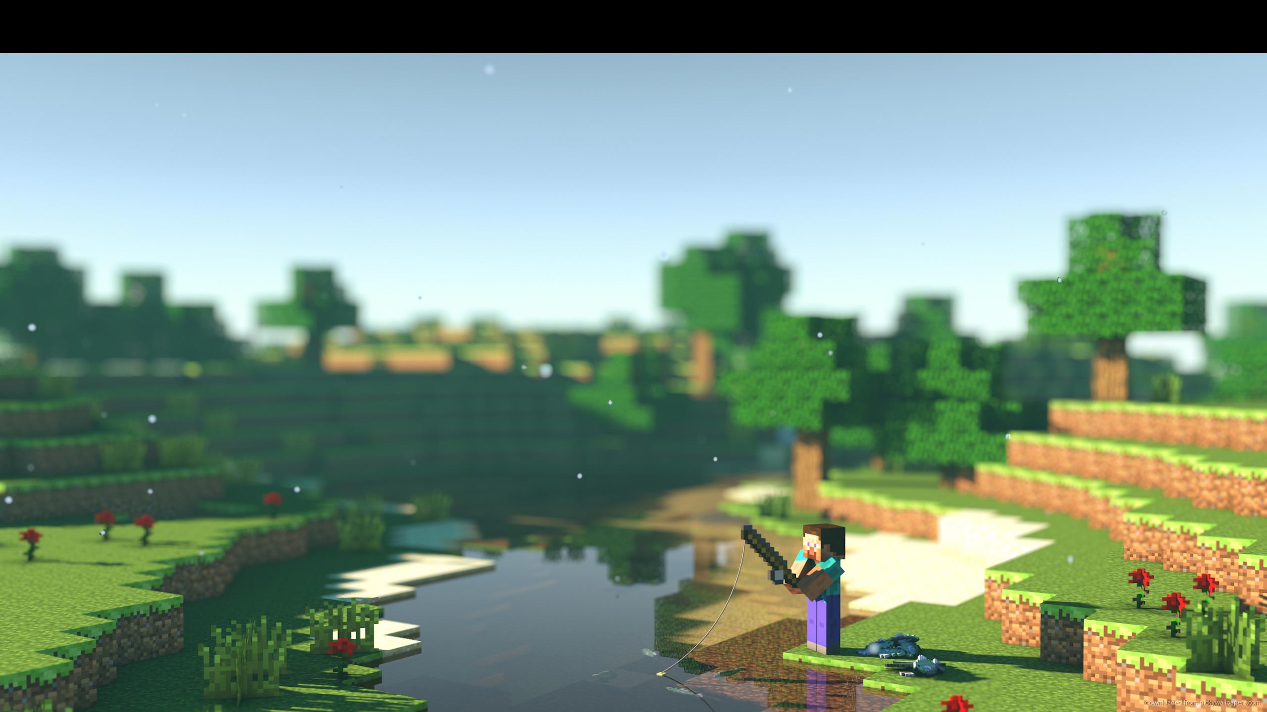 com2560x1440gamesminecraftminecraft fishing wallpaperdownload 2560x1440
