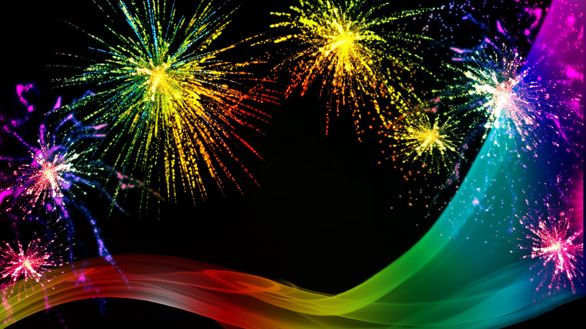 happy new year fireworks wallpaper 1920x1080