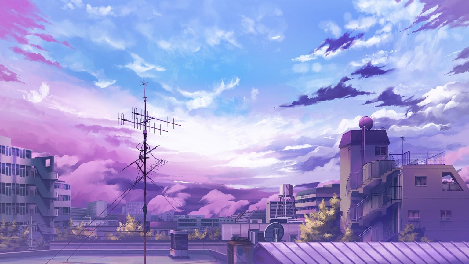 88] Anime Sky Wallpapers on WallpaperSafari 1536x864