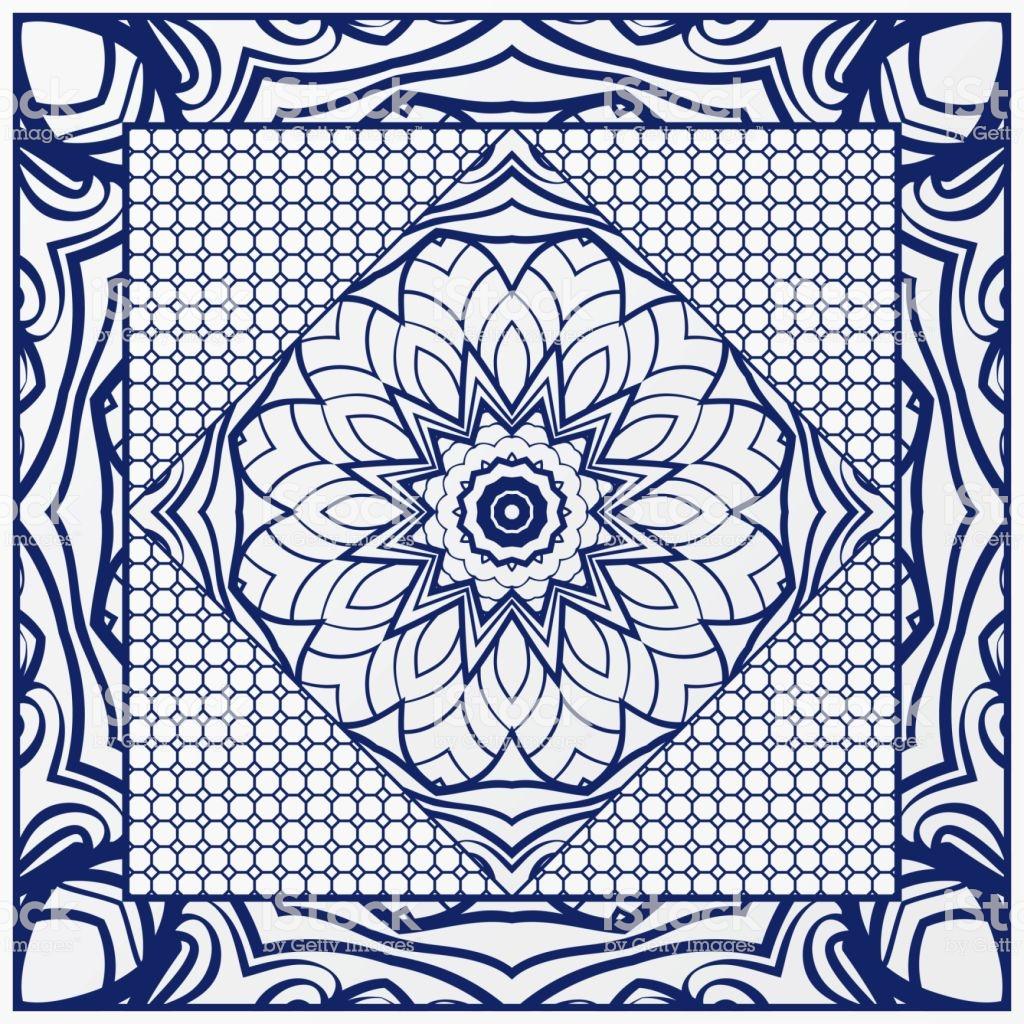 Floral Ornament With Frame Border Artdeco Background Bandanna 1024x1024