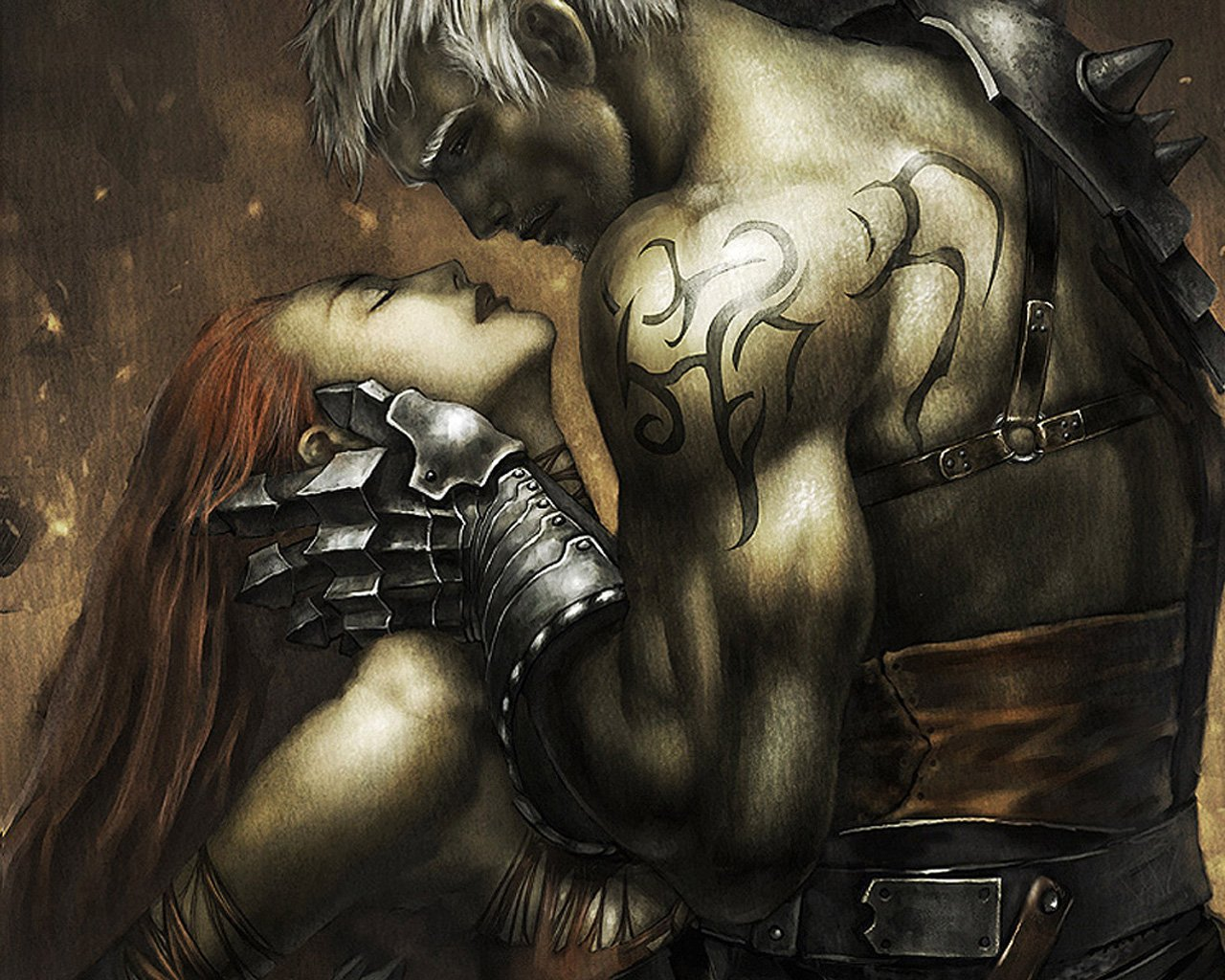 Almost certainly NSFW] Male warriors in fantasy art that are heavily 1280x1024