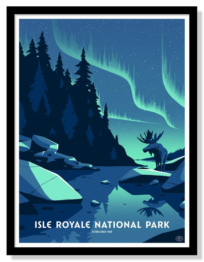Isle Royale National Park Poster National park posters Isle 797x1024