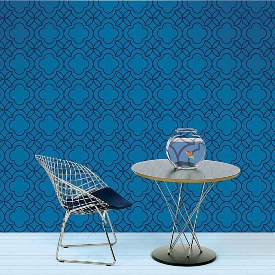 Buy Quatrefoil BlueBlack Removable Peel and Stick WallPaper by 544x544