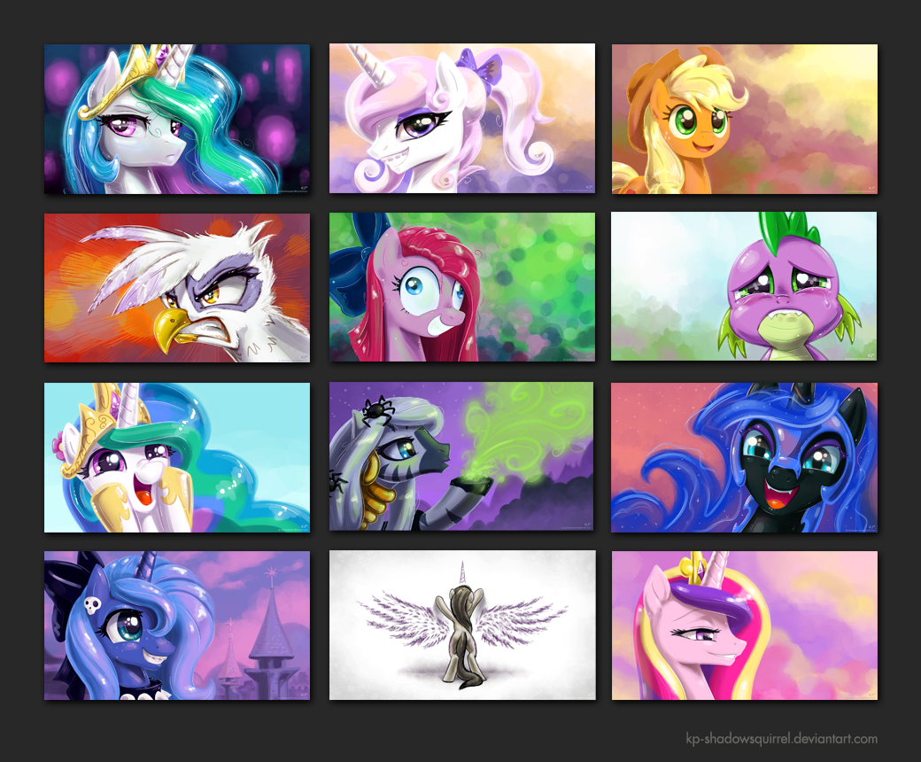 Free Download Mlp Fim Portrait Wallpapers 2 By Kp Shadowsquirrel