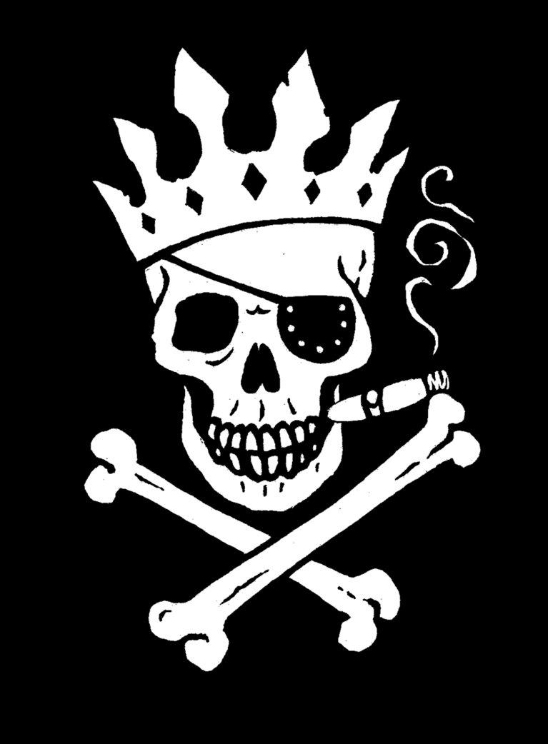 Jolly Roger King Flag by Big Rex 767x1042
