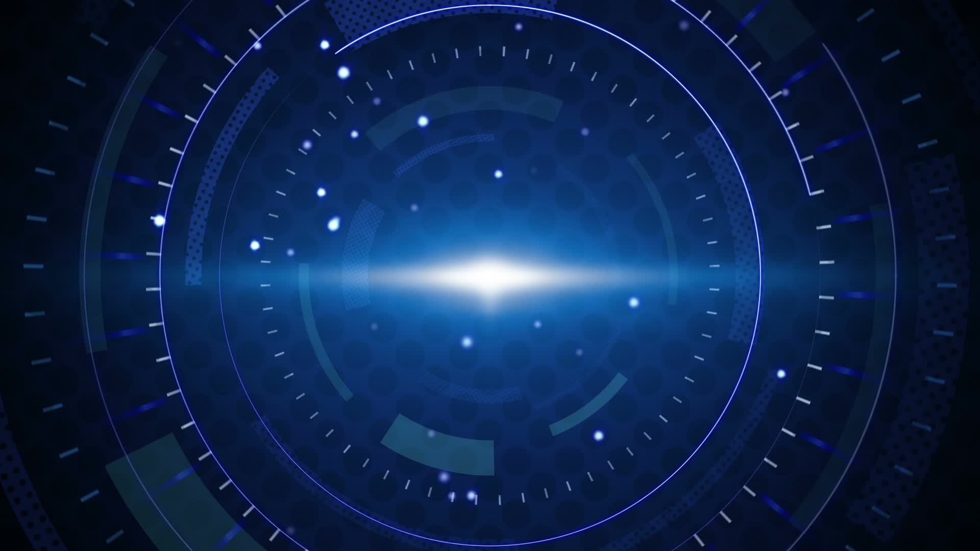 Blue techno circles loop background Video Clip 22759537 1920x1080