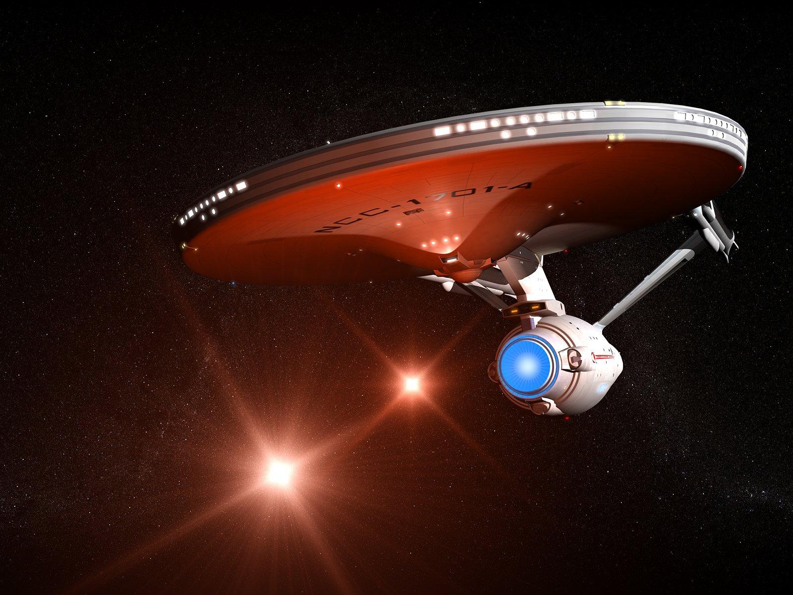 Starship USS Enterprise 1701A Star Trek desktop wallpaper size 1600x1200