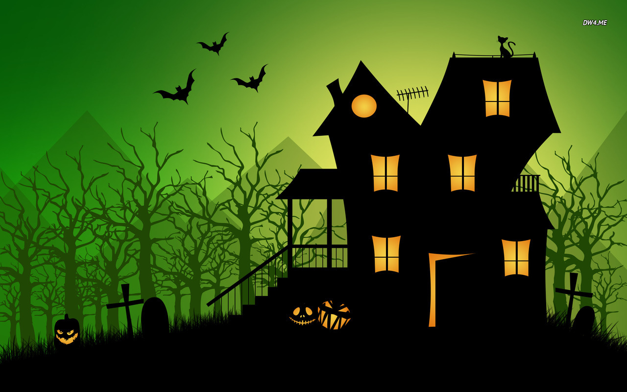 Haunted house wallpaper   Holiday wallpapers   1769 1280x800