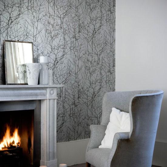 49 Grey Wallpaper Living Room On Wallpapersafari