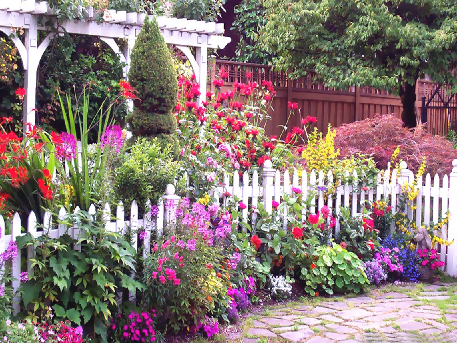 English Flower Garden Pictures Photos and Images for Facebook 1600x1200