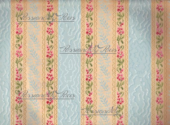 Antique French hand painted wall paper lace by passionatelyparis 1 570x419
