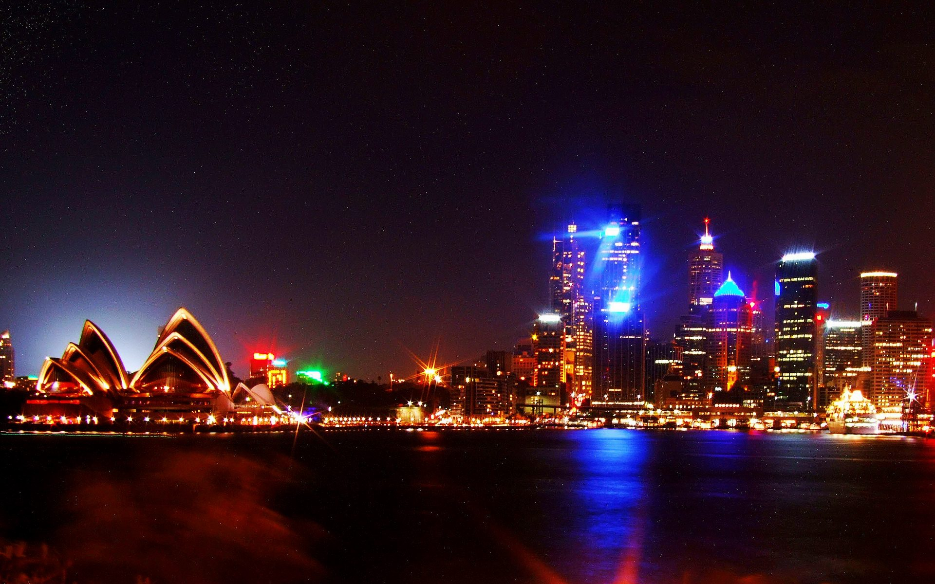 High Definition Sydney Night Lights Wallpaper Travel HD Wallpapers 1920x1200