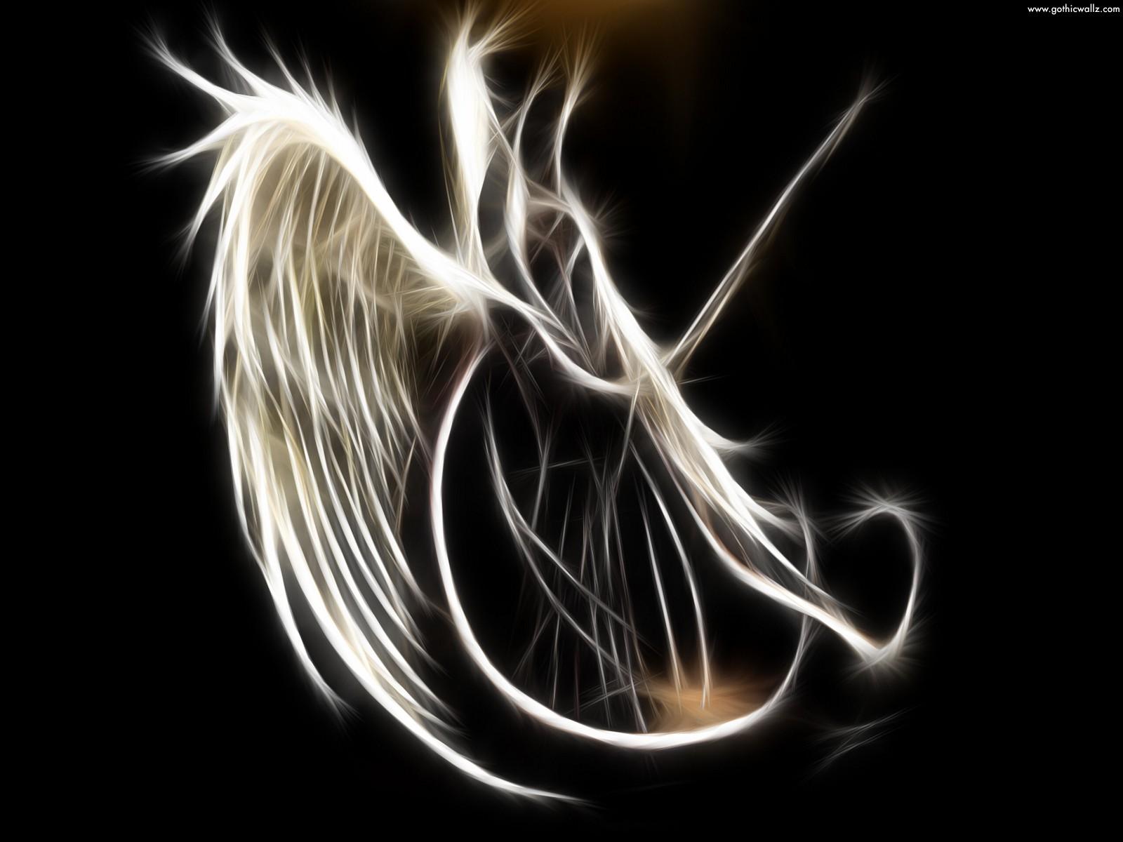Scary Wallpaper   Angel Wing Scary Wallpapers 1600x1200