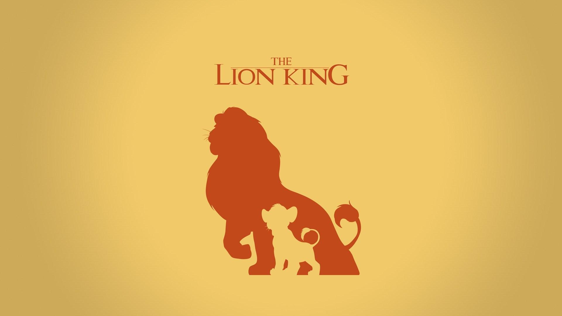 cartoon lion king logo art animals hd minimalist wallpaper 1920x1080