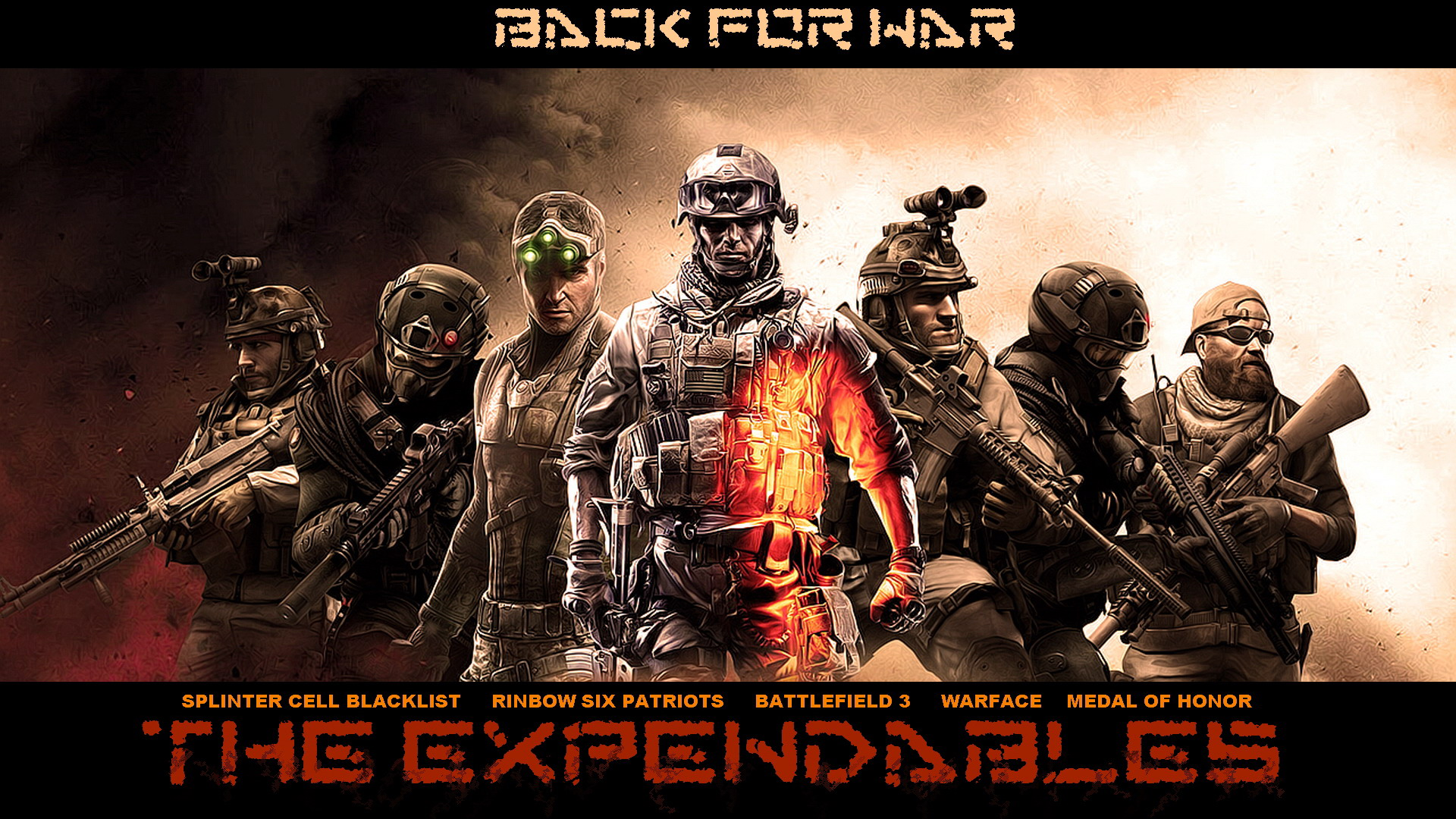Download awesome hd expendables video game HD wallpaper 1920x1080