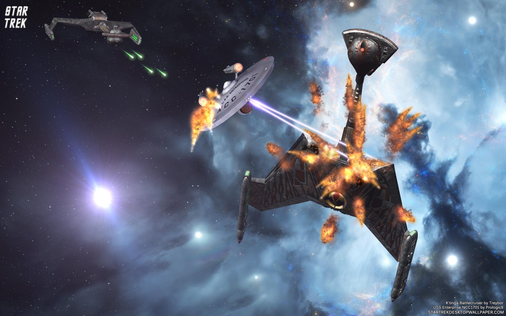 Resolution 1920x1200 Star Trek Space Battle USS Enterprise 1701 1920x1200