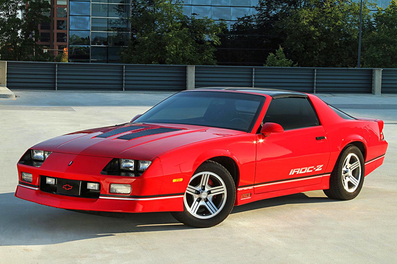 Images Chevrolet 1988 90 Camaro IROC Z T Top Red Vintage Metallic 1280x853