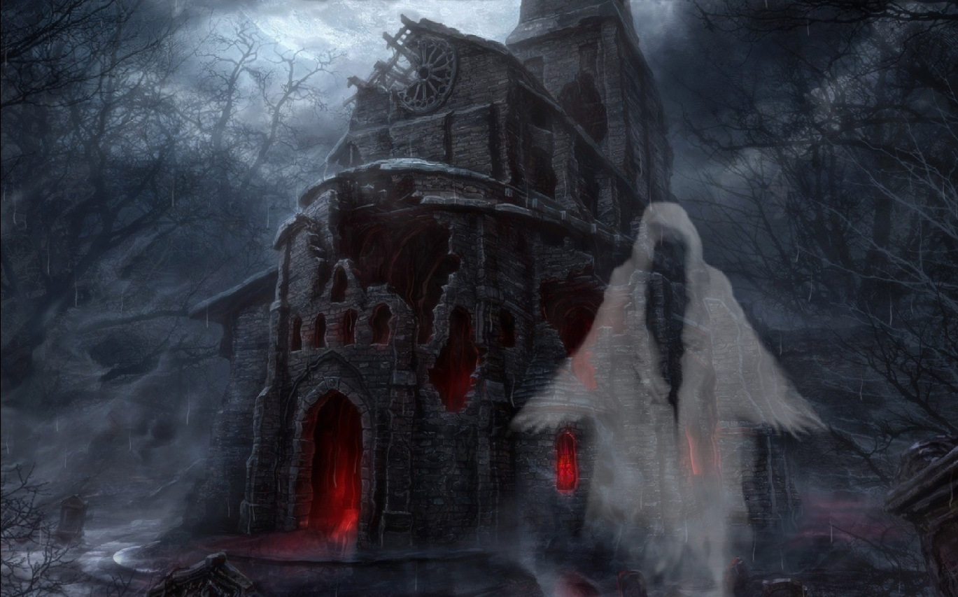 Halloween Scary Animated Desktop Wallpaper Mega Wallpapers 1369x853