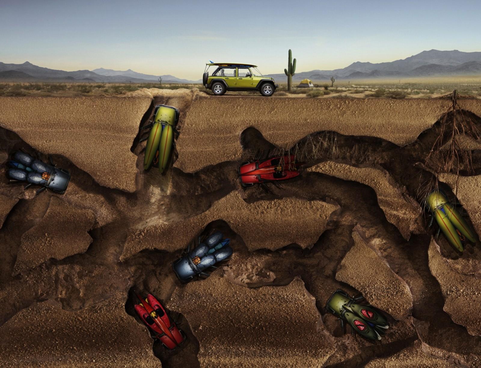 Desktop Wallpaper Jeep Bugs Helfman Cars 1600x1223