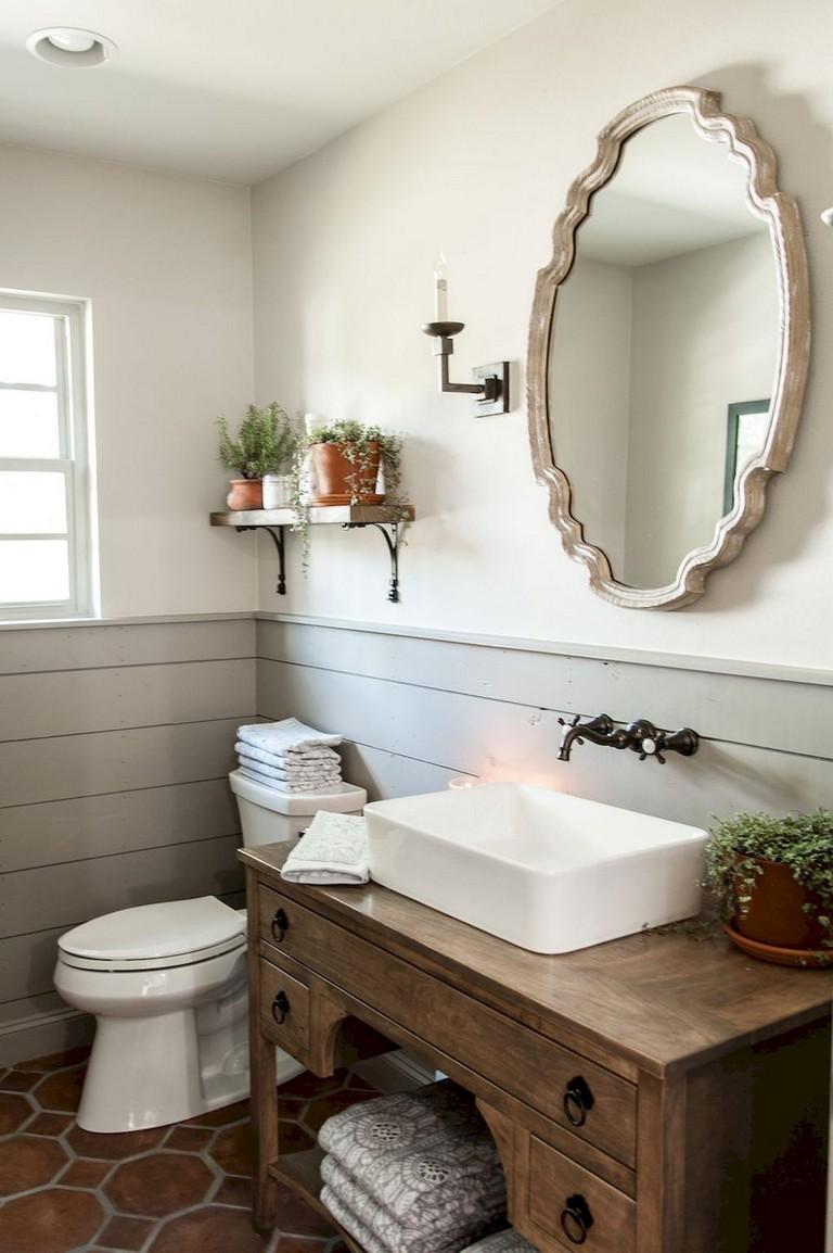 Farmhouse Bathroom Wallpaper, Modern Farmhouse Bathroom Design Ideas