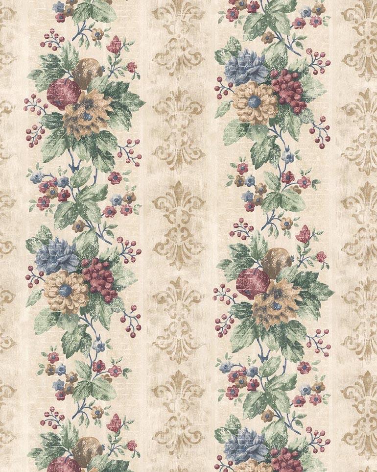 Details about KITCHEN HABITAT FLORALFRUIT STRIPES Wallpaper HB24181 770x963