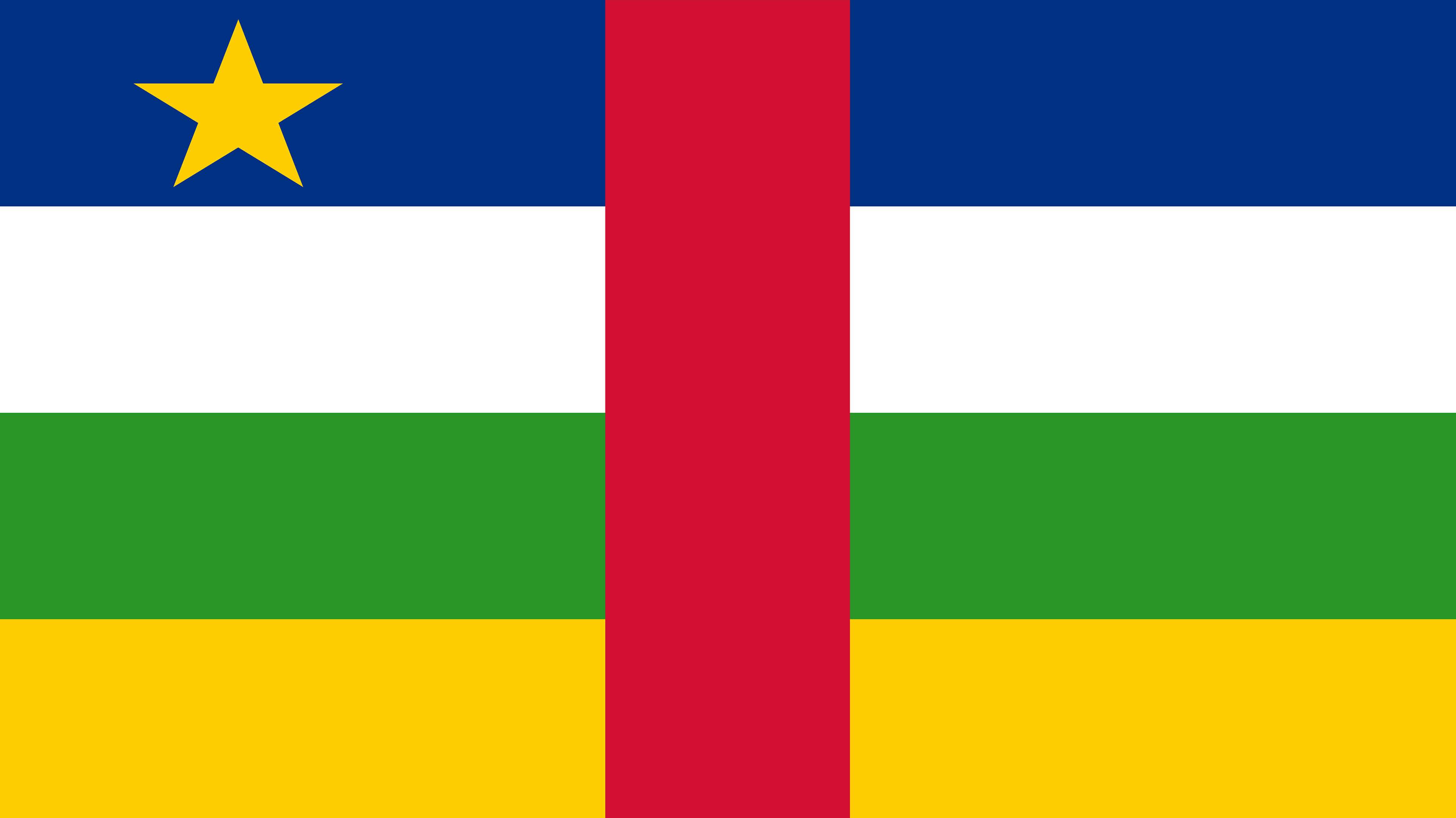 Central African Republic Flag UHD 4K Wallpaper Pixelz 3840x2160