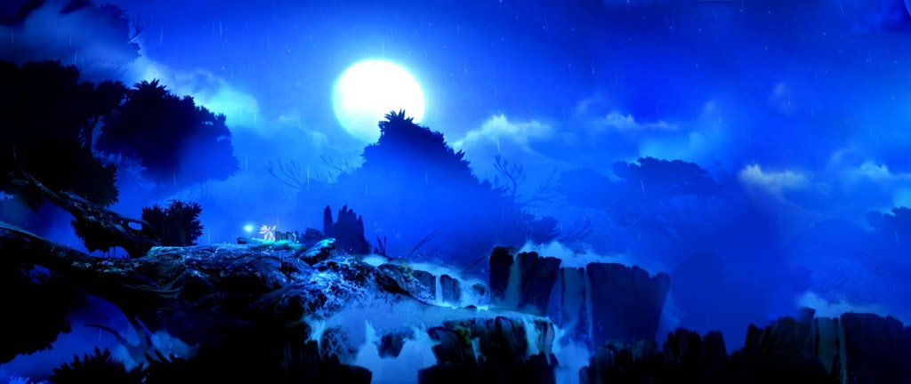 Ori And The Blind Forest ,rain. Wallpaper[2560x1080] : gaming