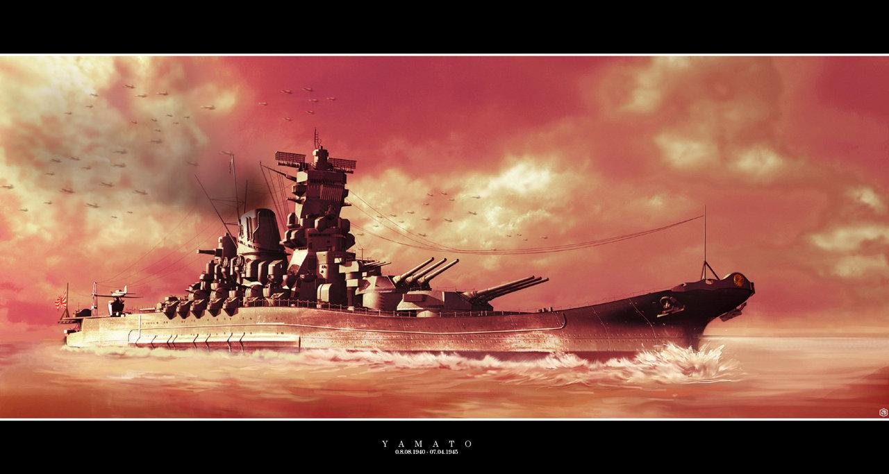 battleship world of warships illustration by krim art yamato battleshi 1280x683
