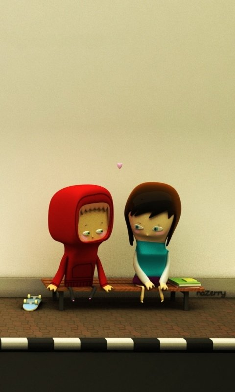 related pictures cute love wallpapers for mobile phones screen Car 480x800