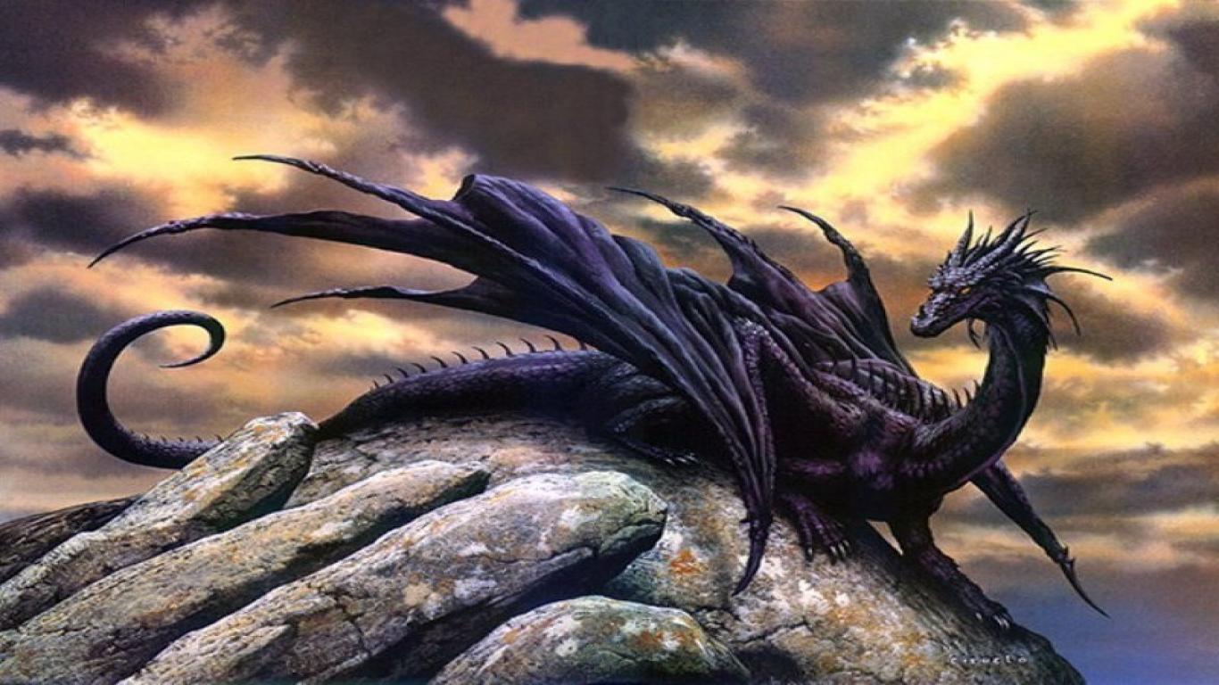 Black Dragon Images Digital Art 1366x768
