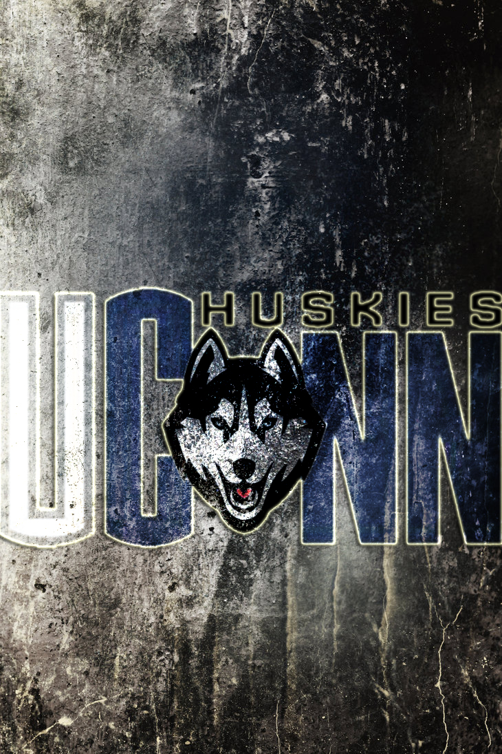 UConn Huskies New Logo on Dirty Concrete WP by drouell 730x1095