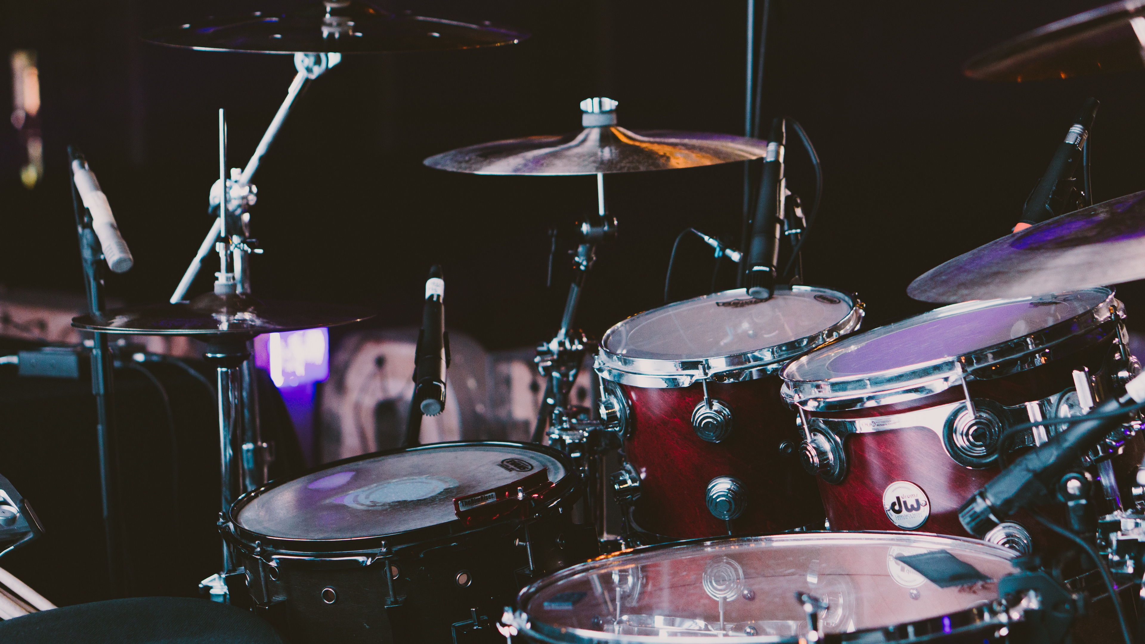 Download wallpaper 3840x2160 drum drum set drum kit musical 3840x2160
